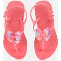Havaianas Kids' Freedom Sl Pompom Flip Flops - Pink Porcelain - EU 31-32/UK 13 Kids