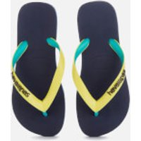 Havaianas Kids' Top Mix Flip Flops - Navy/Neon Yellow - EU 35-36/UK 3-4 Kids