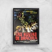 Las Novias De Dracula Giclee Art Print - A4 - Black Frame