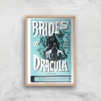 Brides Of Dracula Giclee Art Print - A2 - Wooden Frame