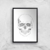 Skull Art Print - A3 - Black Frame