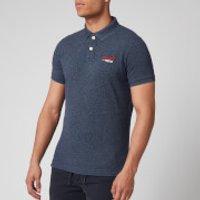 Superdry Men's Classic Pique Polo Shirt - Creek Navy Grindle - S