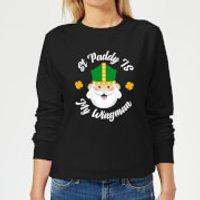 St Paddy Is My Wingman Women's Sweatshirt - Black - S - Black
