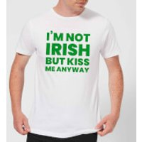 I'm Not Irish But Kiss Me Anyway Men's T-Shirt - White - M - White