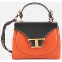 Tod's Women's Tri Colour Top Handle Micro Bag - Tan/Black/Pink