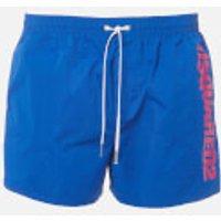 Dsquared2 Men's Vertical Logo Swim Shorts - Blue/Pink - M