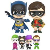 Hot Toys Batman 1966 Cosbaby Mini Figure Box Set Batman, Robin and Villains 11 cm