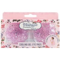 The Vintage Cosmetic Company Cooling Gel Eye Pads Pink Glitter