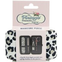The Vintage Cosmetic Company Manicure Purse Leopard Print