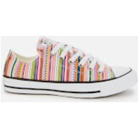 Converse Women's Chuck Taylor All Star Daisy Ox Trainers - White/Multi/Black - UK 3