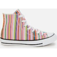 Converse Womens Chuck Taylor All Star Hi-Top Trainers - White/Multi/Black - UK 3