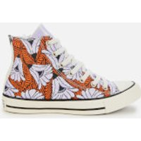Converse Womens Chuck Taylor All Star Hi-Top Trainers - Egret/Orange/Light Blue - UK 4