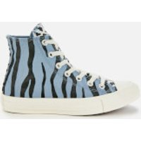 Converse Chuck Taylor All Star Hi-Top Trainers - Blue Slate/Black/Egret - UK 5