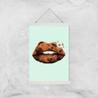 Cookie Lips Giclee Art Print - A3 - White Hanger