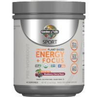 Sport Organic Energy Plus Focus Sugar Free Blackberry Cherry 231g Powder