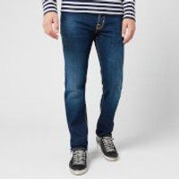 Jacob Cohen Men's Yellow Badge Slim Denim Jeans - Dark Blue - W34/L34