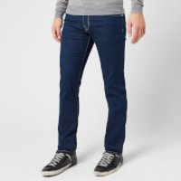 Jacob Cohen Men's Tan Badge Slim Denim Jeans - Dark Blue - W36/L34
