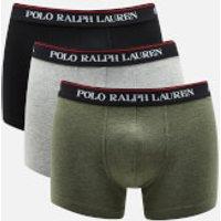 Polo Ralph Lauren Men's 3 Pack Trunk Boxer Shorts - Black/Andover Heather/Moss Green - XL