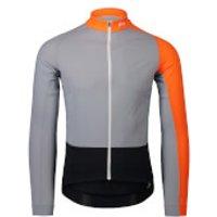 POC Essential Road Mid Long Sleeve Jersey - M - Grey/Orange