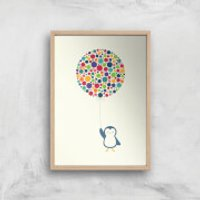 Andy Westface Float In The Air Giclee Art Print - A4 - Wooden Frame