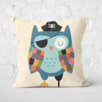Andy Westface Captain Whoo Square Cushion - 50x50cm - Soft Touch