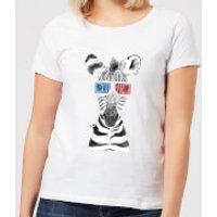3D Zebra Women's T-Shirt - White - XS - White