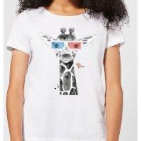 3D Giraffe Women's T-Shirt - White - 5XL - White