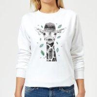 Rainbow Giraffe Women's Sweatshirt - White - 5XL - White