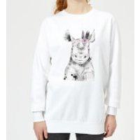 Indie Rhino Women's Sweatshirt - White - 5XL - White
