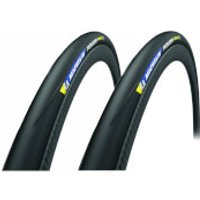 Michelin Power Road Clincher Tyre Twin Pack - 700c x 23mm - Black