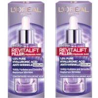 L'Oreal Paris Exclusive Revitalift Filler with 1.5% Hyaluronic Acid Anti-Wrinkle Dropper Serum Duo 2