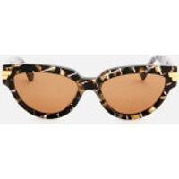 Bottega Veneta Women's Cat Eye Acetate Sunglasses - Havana/Brown