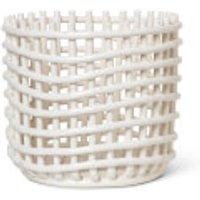 Ferm Living Ceramic Basket - Off White - Large
