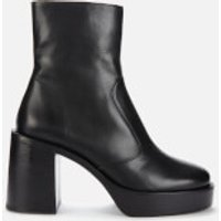 Simon Miller Women's Low Raid Leather Platform Boots - Black - UK 3