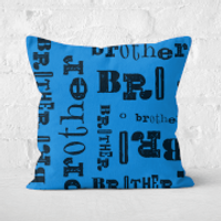 Vintage Brother Pattern Square Cushion - 50x50cm - Soft Touch