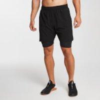 MP Men's Essentials 2-in-1 Training Shorts - Black - L