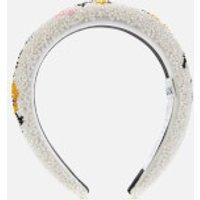 Ganni Women's Padded Beaded Hairband - Egret