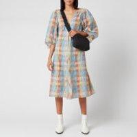 Ganni Women's Seersucker Check Mini Dress - Multicolour - EU 38/UK 10