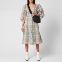 Ganni Women's Seersucker Check Mini Dress - Multicolour - EU 34/UK 6