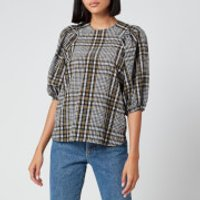 Ganni Women's Seersucker Check Top - Kalamata - EU 38/UK 10