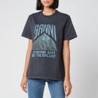 Ganni Women's Basic Cotton Logo T-Shirt - Phantom - S
