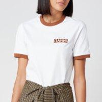 Ganni Women's Basic Cotton Logo T-Shirt - Bright White - L