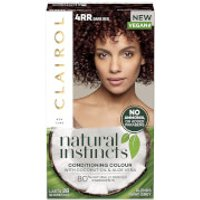 Clairol Natural Instincts Semi-Permanent No Ammonia Vegan Hair Dye 177ml (Various Shades) - 4RR Dark