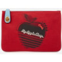 shop for Coach 1941 Women's Retro Big Apple Camp Canvas Turnlock Pouch - Red Apple at Shopo