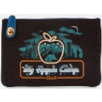 shop for Coach 1941 Women's Retro Big Apple Camp Canvas Turnlock Pouch - Black at Shopo