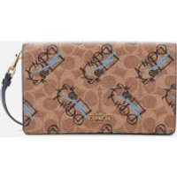 Coach 1941 Women's Signature All Over Horse and Carriage 3 by Guang Yu Hayden Bag - Tan Black Multi