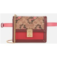 Coach 1941 Women's Signature All Over Horse and Carriage 3 by Guang Yu Hutton Belt Bag - Tan Red App