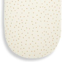 The Little Green Sheep Organic Moses Basket Fitted Sheet - Linen Rice