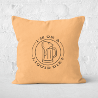 Liquid Diet Beer Square Cushion - 50x50cm - Soft Touch