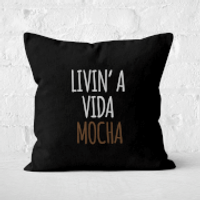 Livin' A Vida Mocha Square Cushion - 50x50cm - Soft Touch